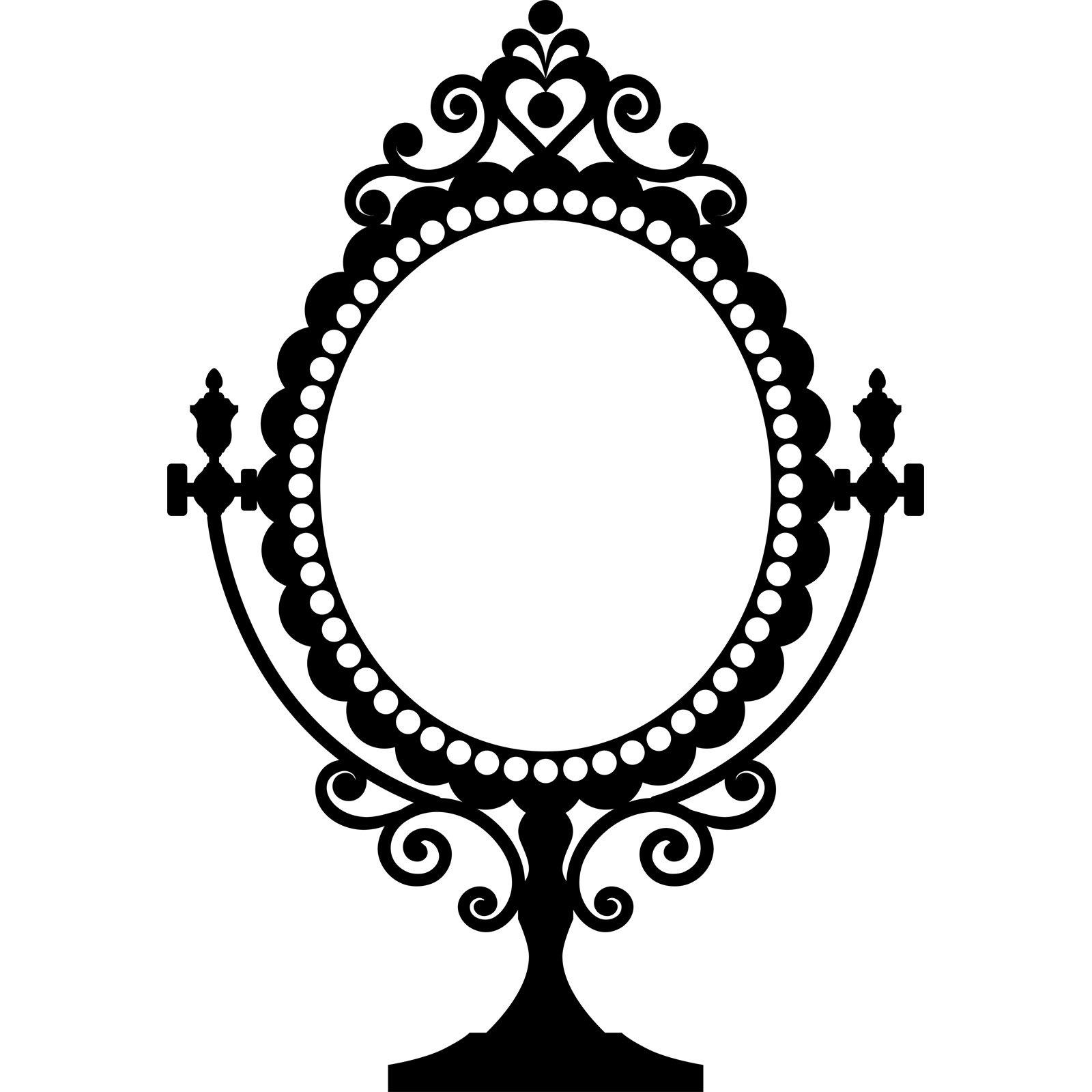Decorative Vintage Mirror Design Wall Sticker Decal