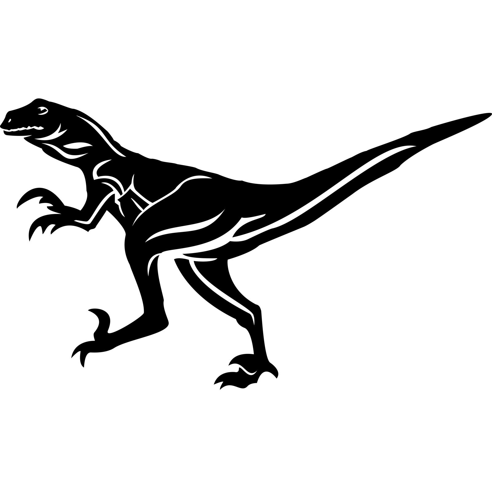 Raptor Dinosaur Wall Sticker