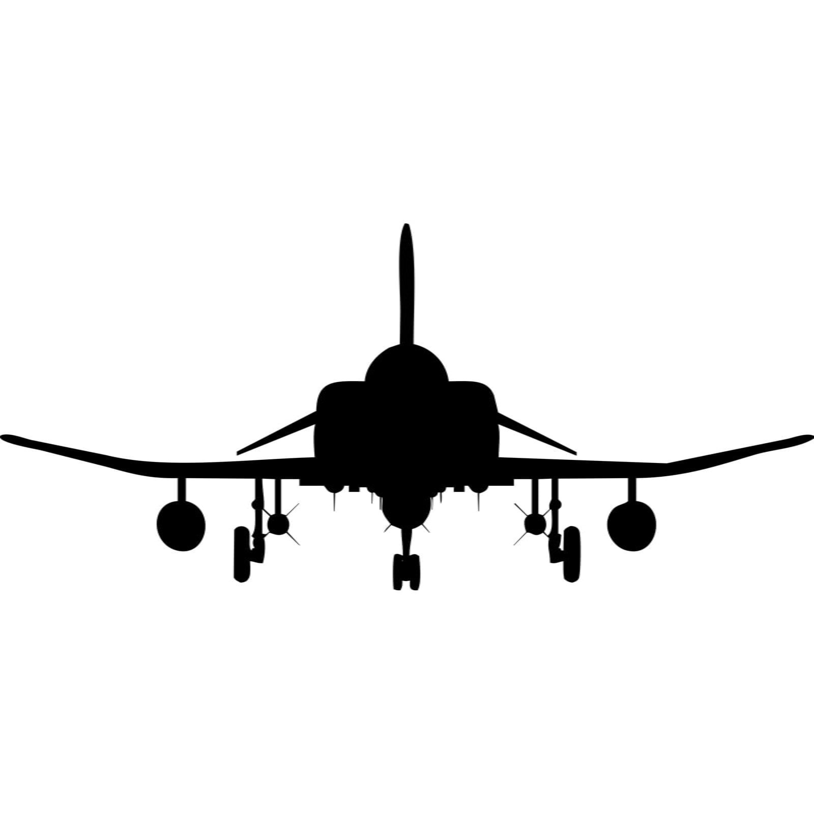 Fighter Jet Front Silhouette Wall Sticker Decal