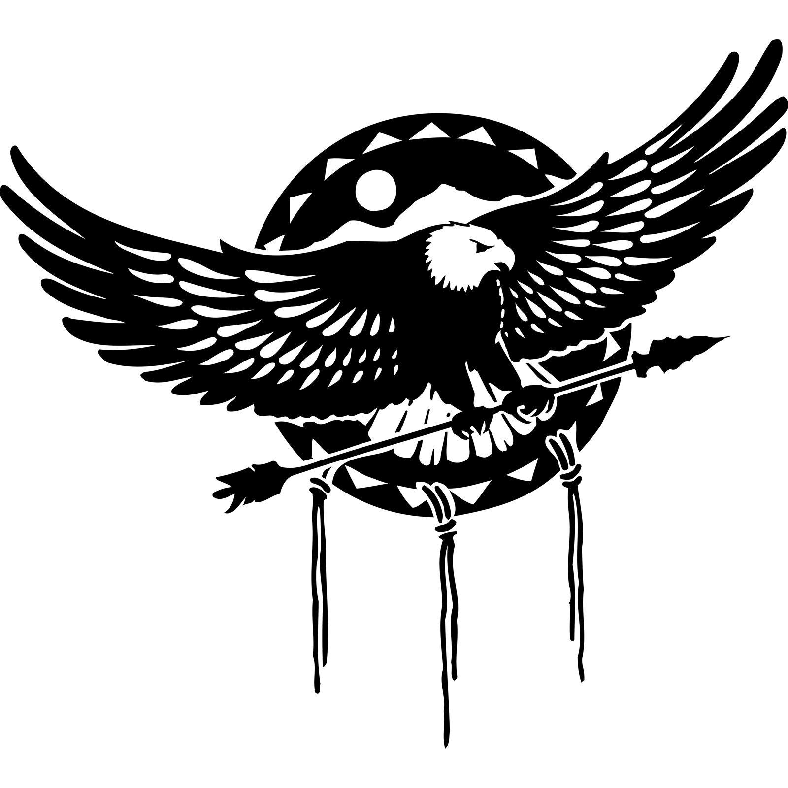 Eagle Holding Arrow Wall Sticker