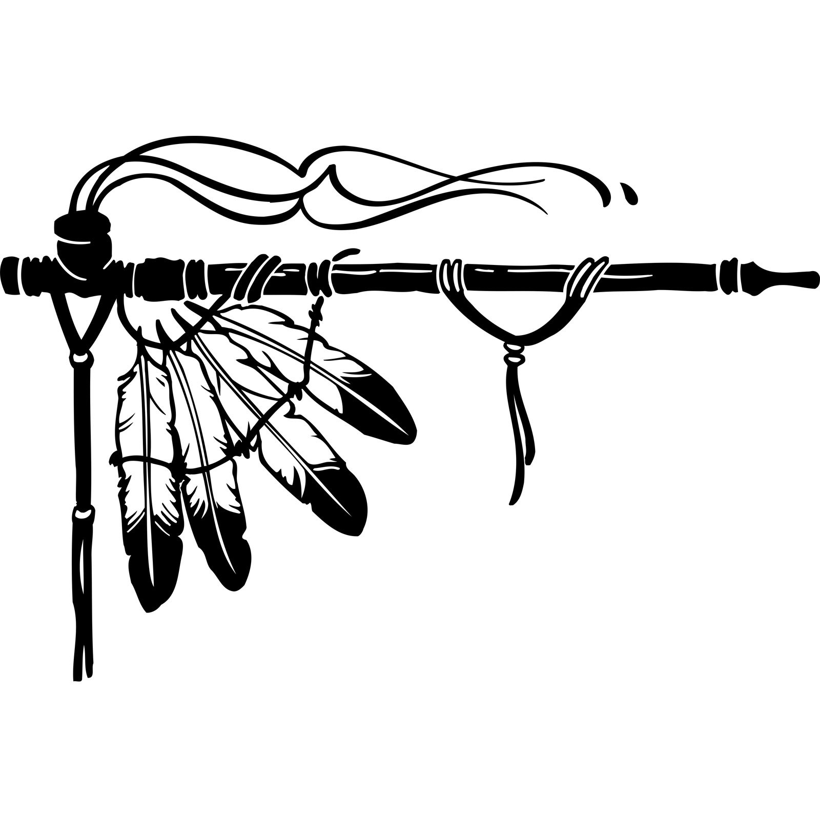 Native American Indian Feather Corner Wall Sticker Decal