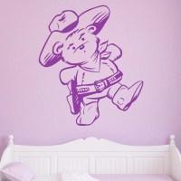 Cowboy Teddy Bear Kids Wall Sticker - World of Wall Stickers