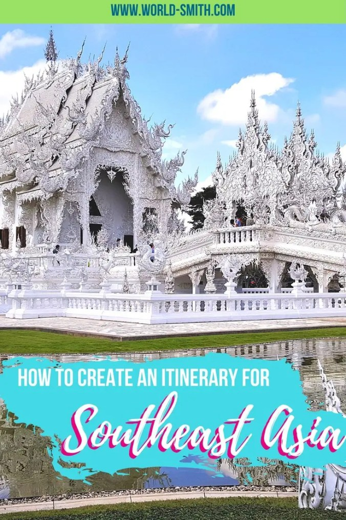 Southeast Asia Itinerary Pin