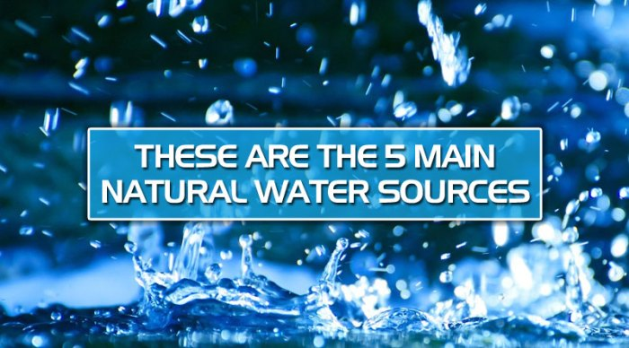 featured1 - These are the 5 main natural water sources