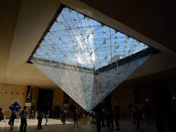 Visiting Paris Louvre Glass Pyramid Interior View