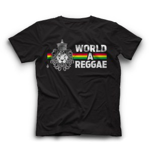 Men T Shirt World a Reggae