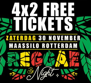 4x 2 Free Tickets To Rotterdam Reggae by Night Concert 2019