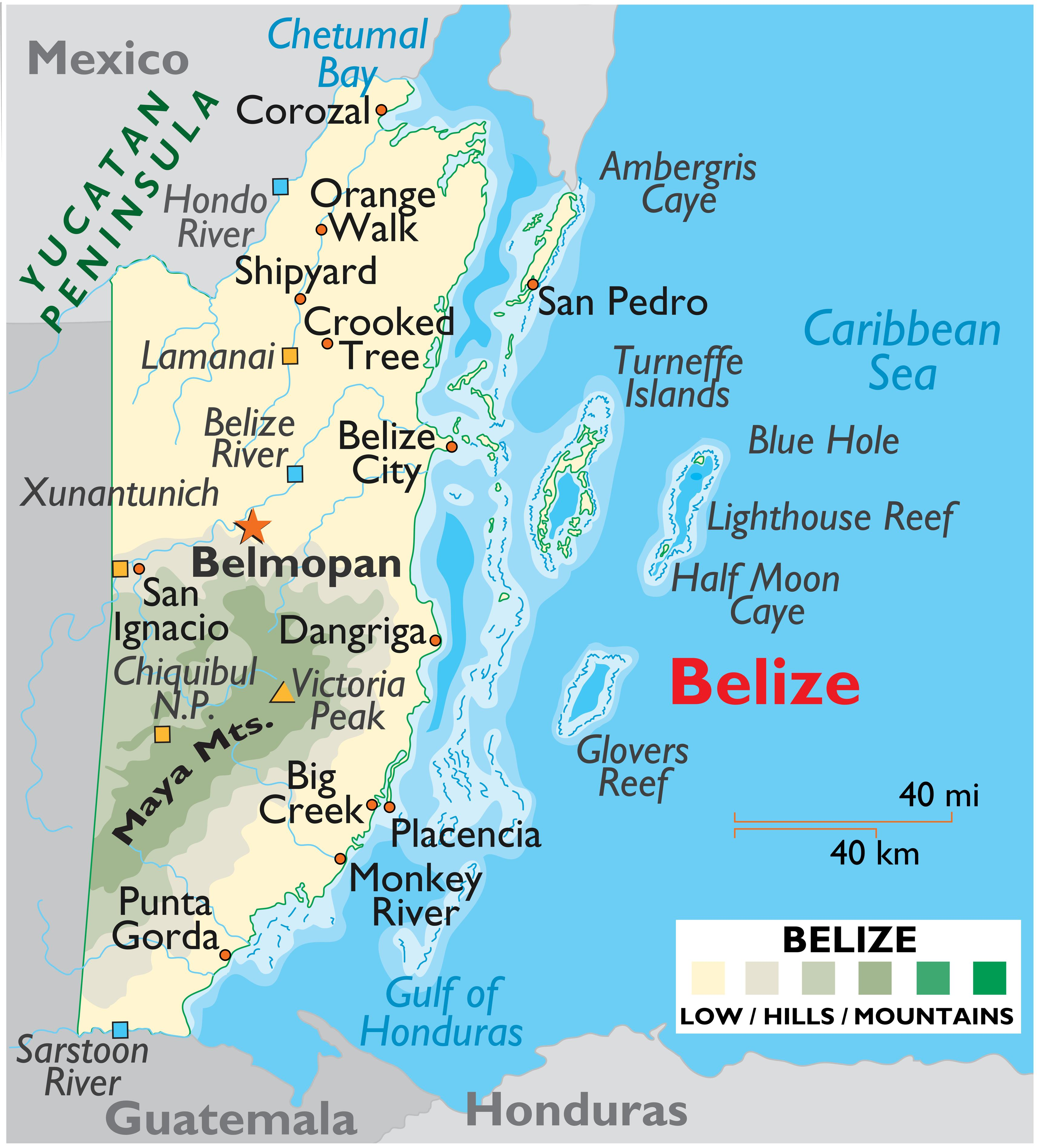 Geography Of Belize Landforms