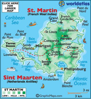 saint martin flags and