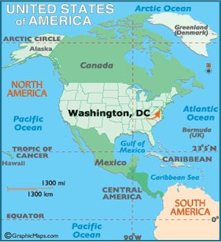 Washington Dc Map Geography of Washington Dc Map of