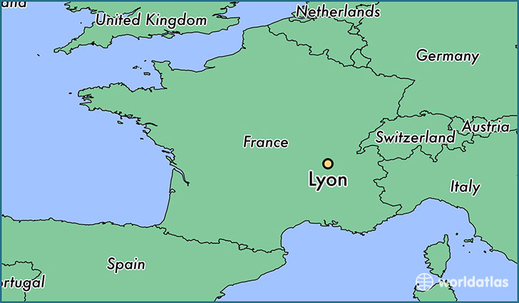 Image result for france lyon map