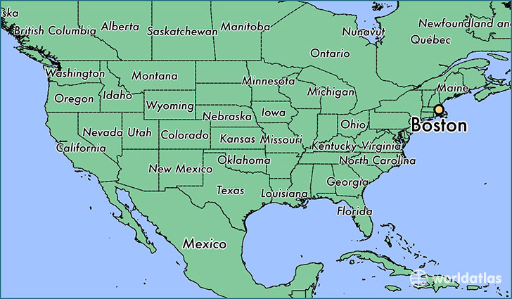 Image result for boston on map