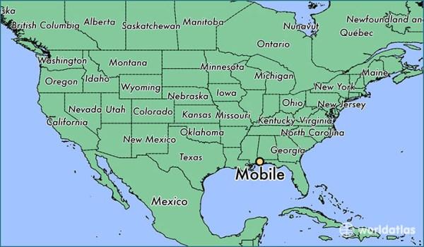 Where is Mobile AL Mobile Alabama Map WorldAtlascom