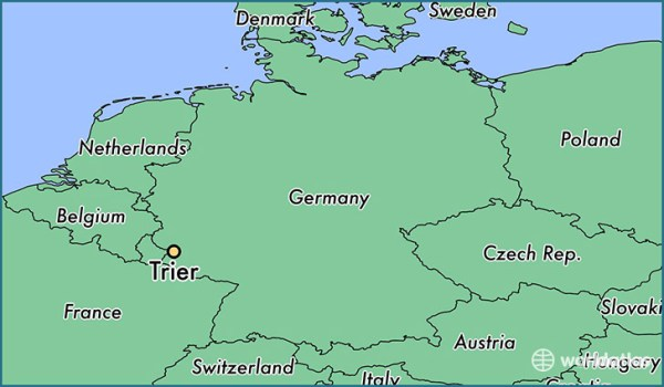 Where is Trier Germany Trier RhinelandPalatinate Map