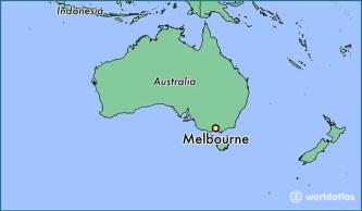 Αποτέλεσμα εικόνας για where is melbourne australia