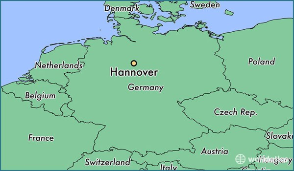 Where is Hannover Germany Hannover Lower Saxony Map