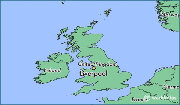 Where is Liverpool England Liverpool England Map