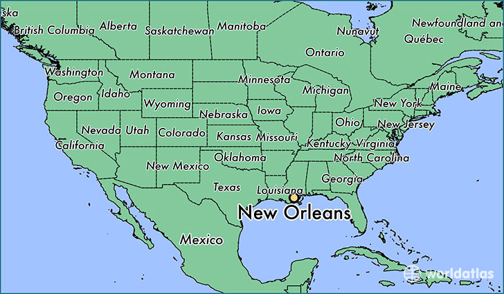 Image result for new orleans map us