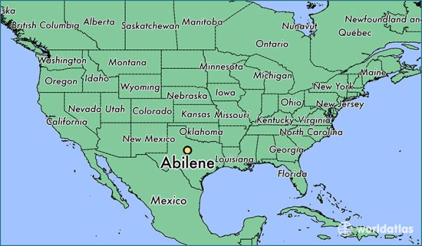 Where is Abilene TX Abilene Texas Map WorldAtlascom