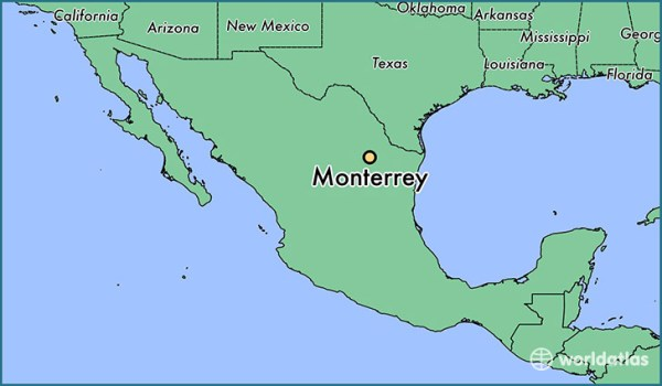 Where is Monterrey Mexico Monterrey Nuevo Leon Map