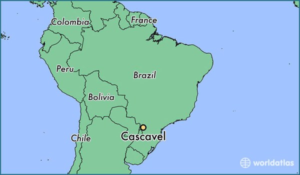 Where is Cascavel Brazil Cascavel Parana Map