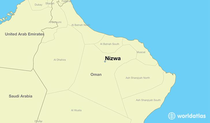 Image result for nizwa oman map