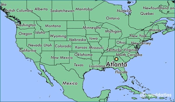 Where is Atlanta GA Atlanta Georgia Map WorldAtlascom