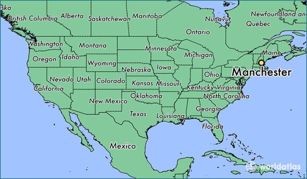 Where is Manchester NH Manchester New Hampshire Map