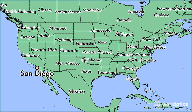 Image result for san diego on map