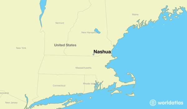 Where is Nashua NH Nashua New Hampshire Map