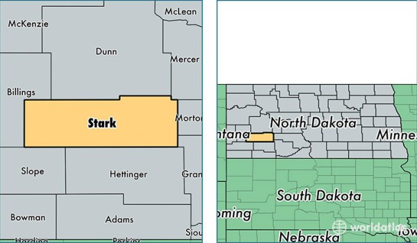 Stark County North Dakota Map of Stark County ND