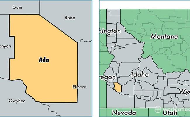 Ada County Idaho Map Of Ada County Id Where Is Ada County