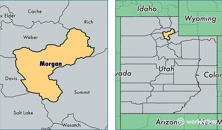 Morgan County Utah / Map of Morgan County UT / Where is ...