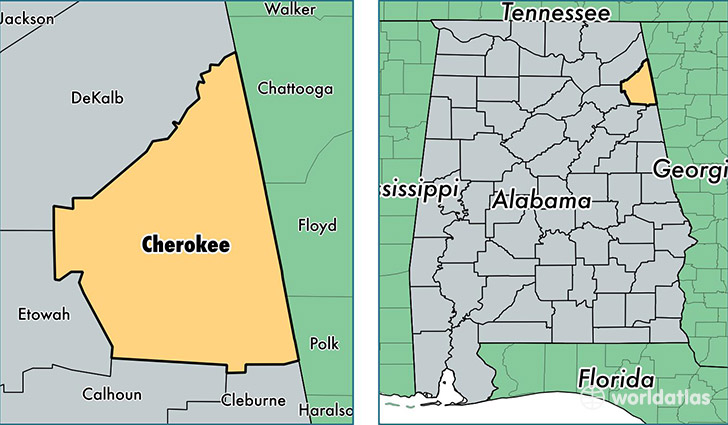 Cedar Bluff Alabama Map