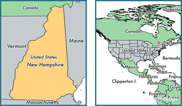 Where is New Hampshire state Where is New Hampshire