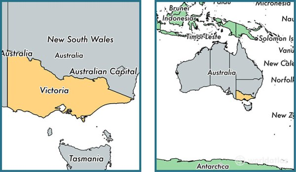 Where is Victoria state Where is Victoria Located in