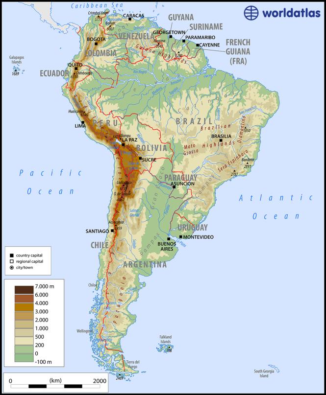 What Mountain Range Runs The Full Length Of South America ...