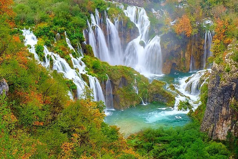 Panoramic Wallpaper Fall Plitvice Lakes National Park Croatia Worldatlas Com