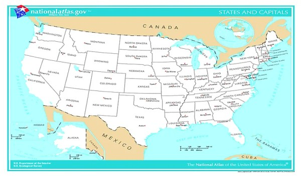 Capital Cities Of The 50 US States WorldAtlascom