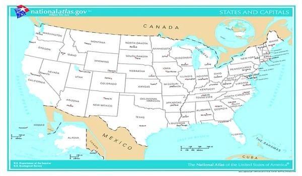 Capital Cities Of The 50 US States WorldAtlascom