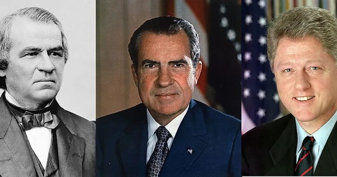 Image result for impeached us presidents