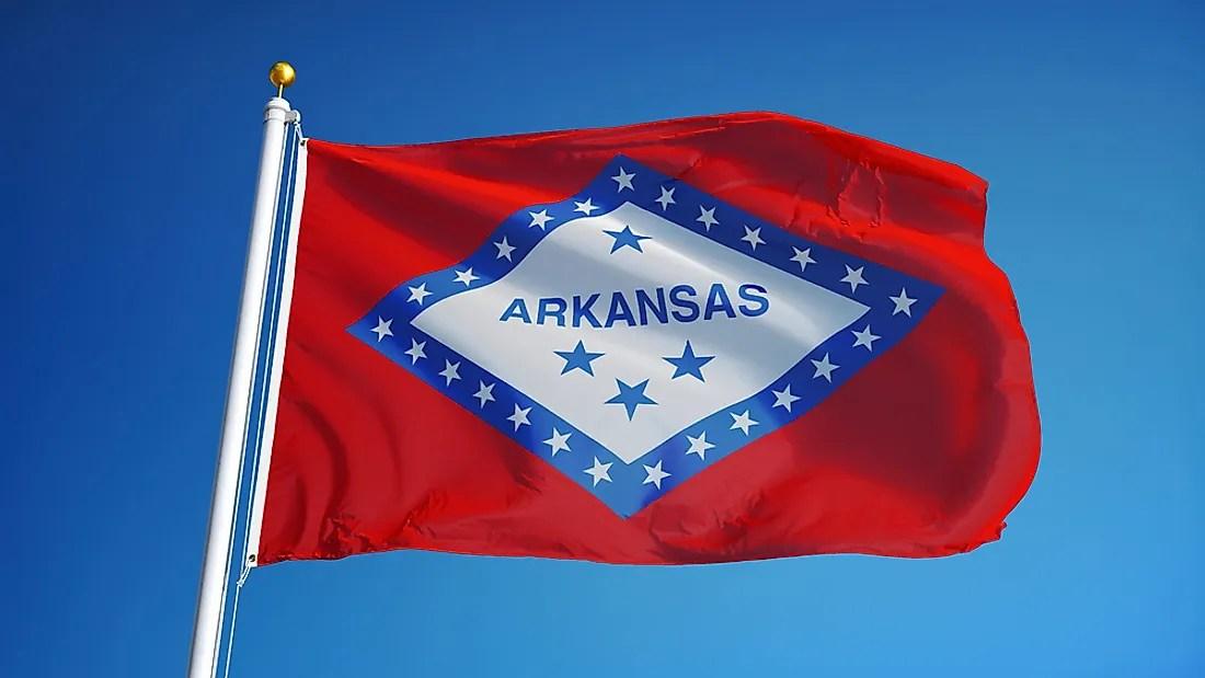 Over Six Arkansas Flags