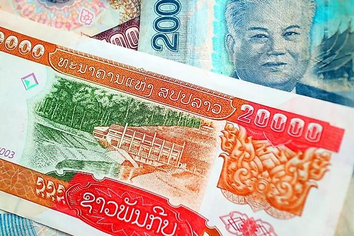 Notas do Lao Kip.