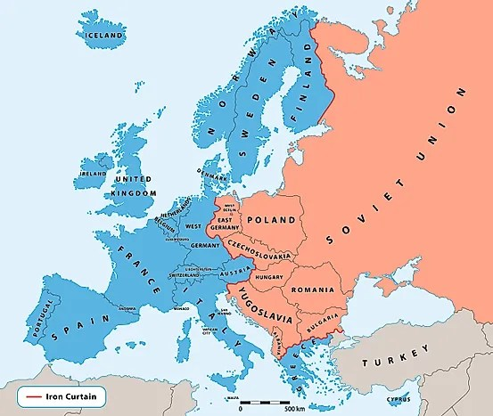 What Was The Iron Curtain  WorldAtlascom