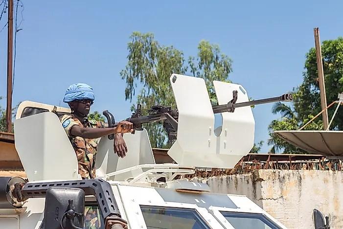 Guardiões da paz na República Centro-Africana.  Crédito editorial: sandis sveicers / Shutterstock.com.
