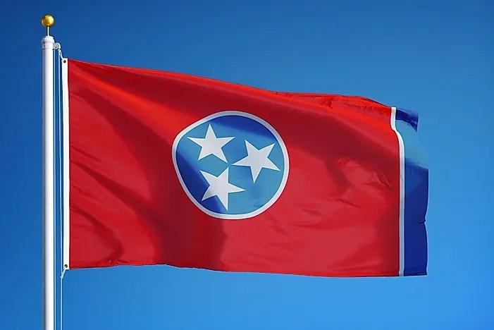 tennessee state flag worldatlas