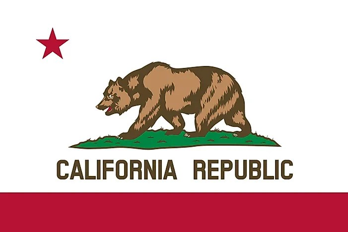 california state flag worldatlas