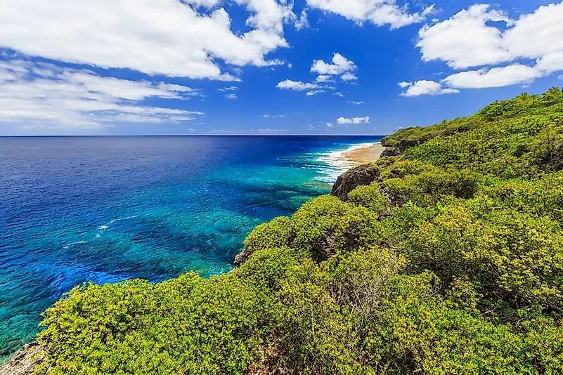 A bela paisagem de Niue.
