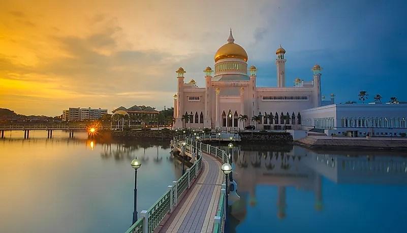 Uma mesquita em Brunei.