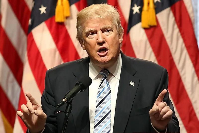 Donald Trump fala durante uma conferência de imprensa em 16 de julho de 2016 em Nova York.  Crédito da imagem: JStone / Shutterstock.com